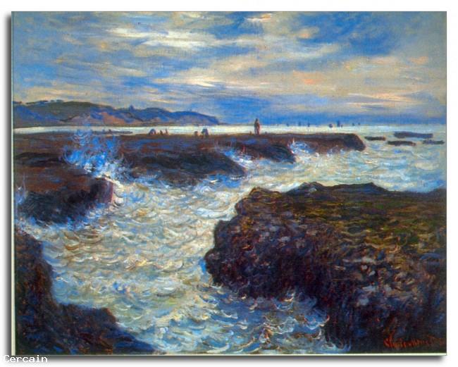 Riproduzione Artistica Pourville di Monet