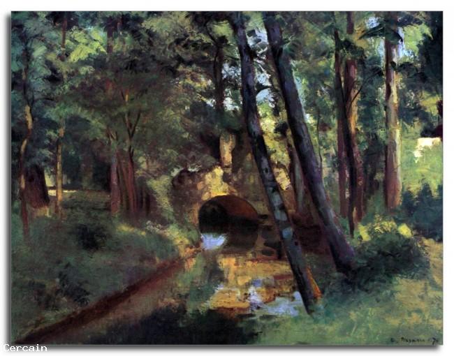 Riproduzione Artistica Piccolo ponte di Pontoise di Pissarro