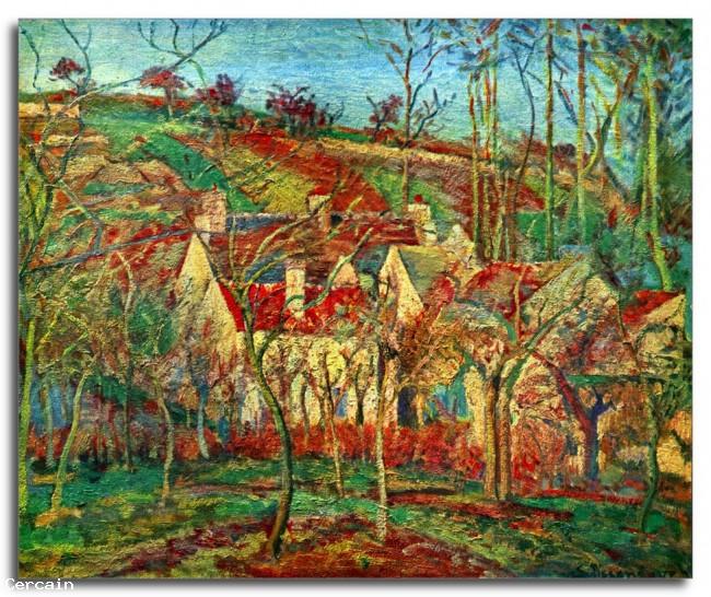 Riproduzione Artistica I tetti rossi di Pissarro
