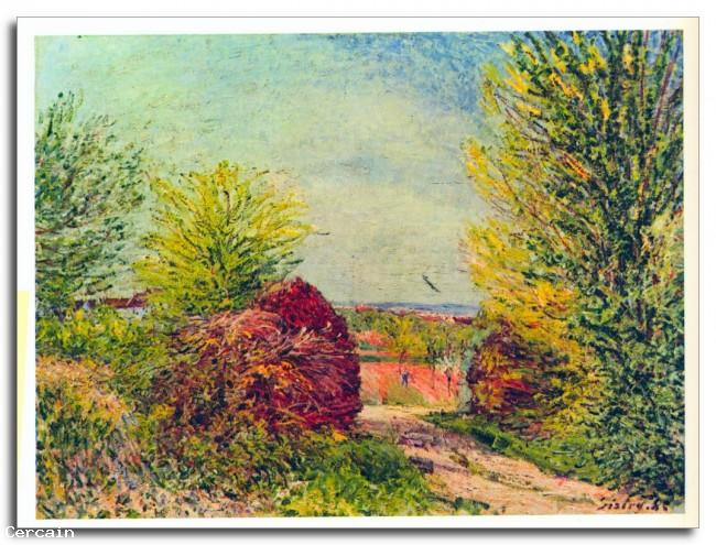 Riproduzione Artistica Veneux Nadon in primavera di Sisley