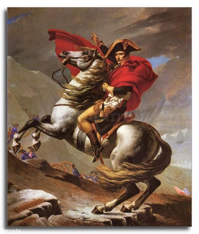 Riproduzione Artistica Napoleone attraversa il Passo del grande SBern