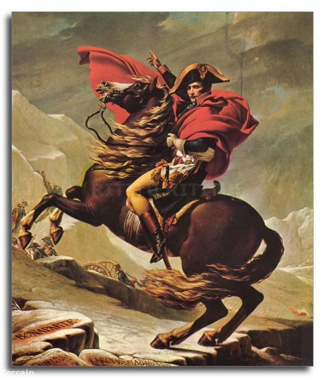 Riproduzione Artistica Napoleone attraversando le Alpi di Jacques Loui