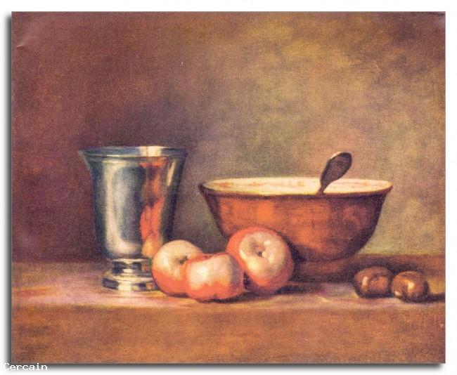Riproduzione Artistica La coppa dargento di Jean Chardin