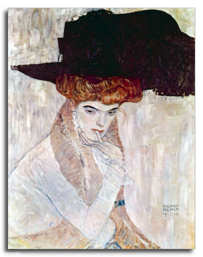 Riproduzione Artistica Artistica Il Black Hat di Klimt