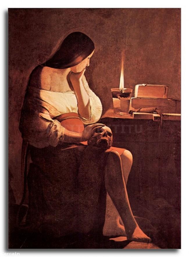 Riproduzione Artistica Maria Maddalena 2 di La Tour