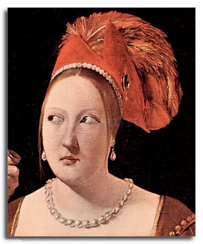Riproduzione Artistica testa della donna da parte di La Tour