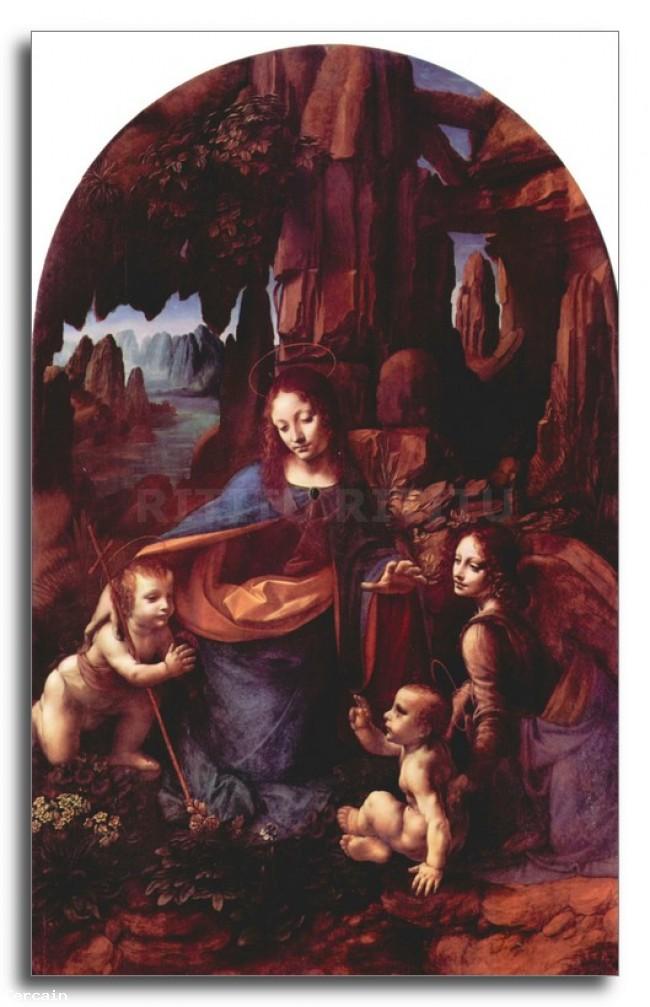 Riproduzione Artistica Madonna nella grotta di roccia di Da Vinci
