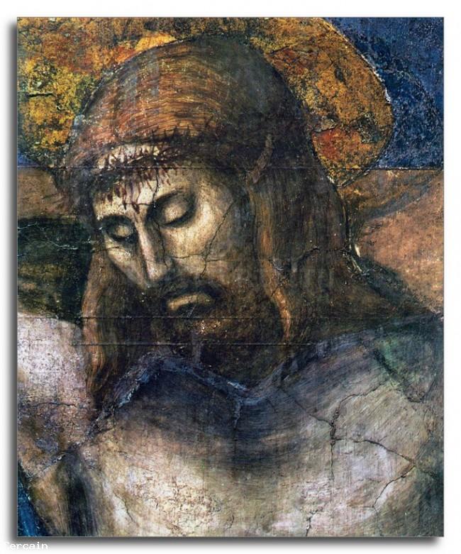 Riproduzione Artistica Il Dettaglio Trinità 2 di Masaccio