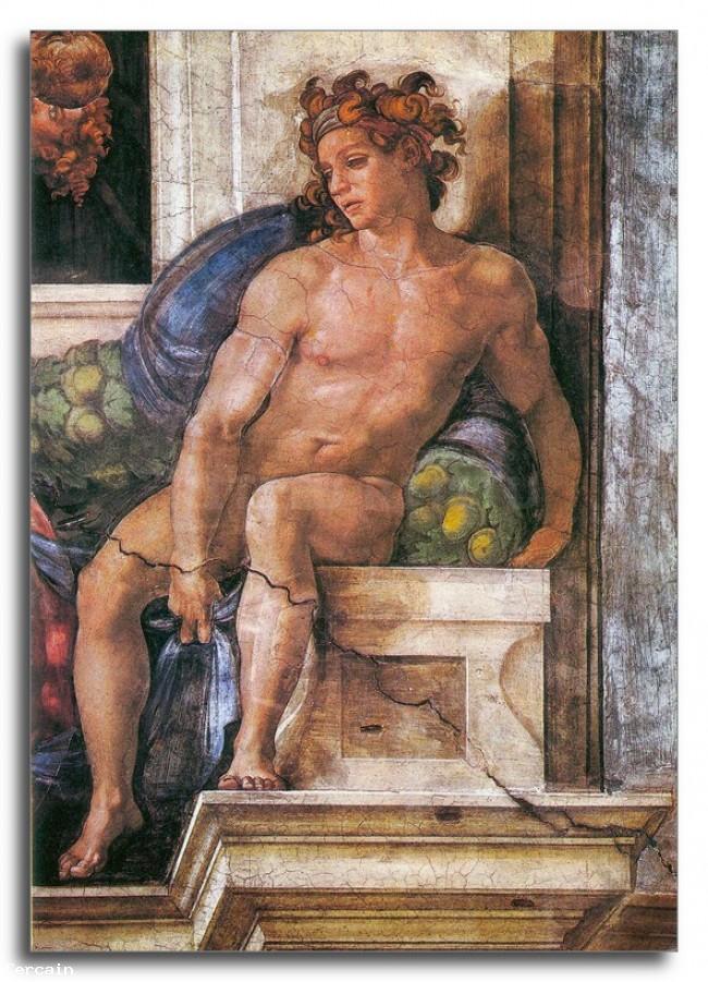 Riproduzione Artistica Sopra il delfico Sybille di Michelangelo