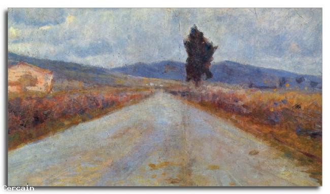 Riproduzione Artistica Modigliani Paesaggio in Toscana