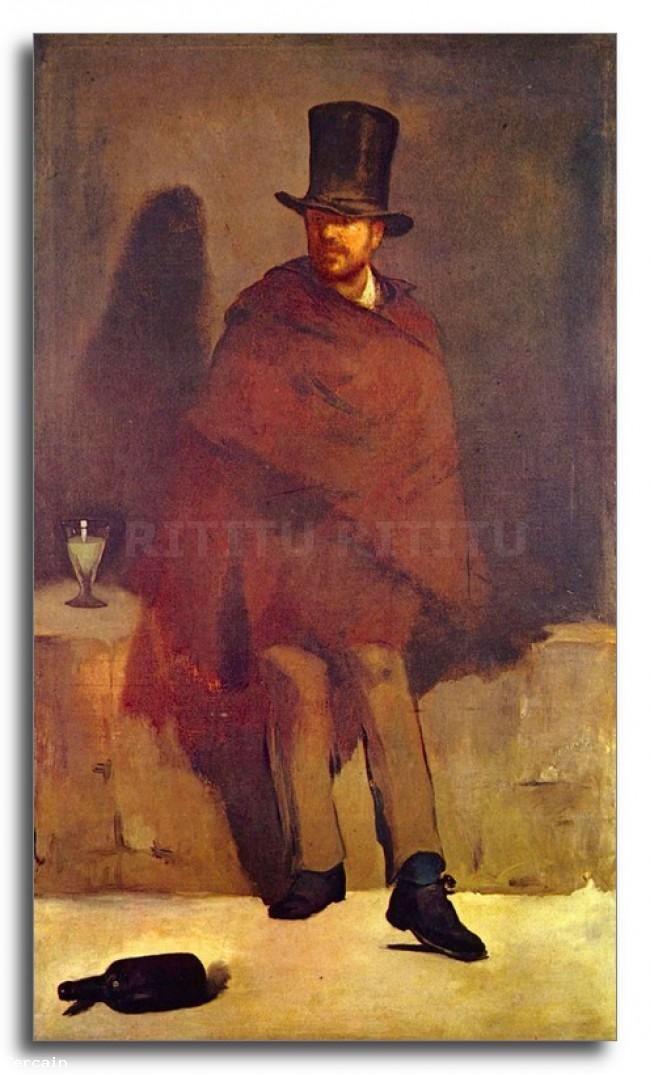 Riproduzione Artistica Bevitore Assenzio di Manet
