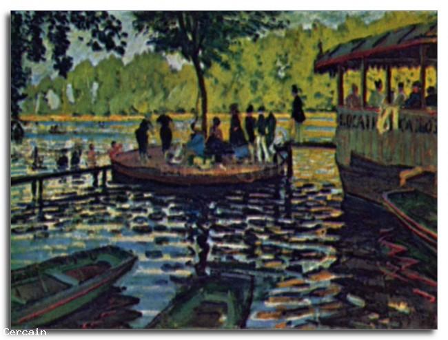 Riproduzione Artistica Copia di La Grenouillre di Monet