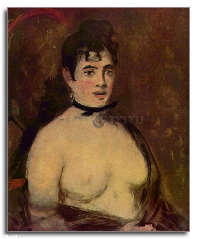 Riproduzione Artistica Femminile atto di Manet