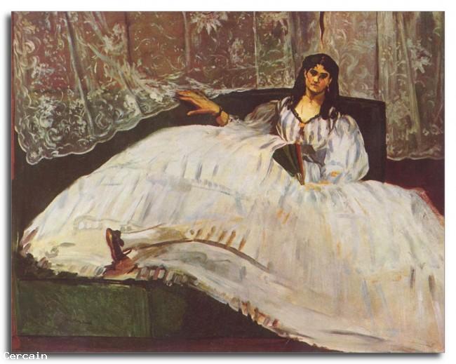 Riproduzione Artistica Donna con ventaglio di Manet