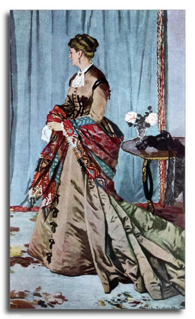 Riproduzione Artistica signora Gaudibert di Monet