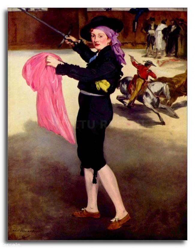 Riproduzione Artistica Mlle Victorine in Costume di Matador di Manet