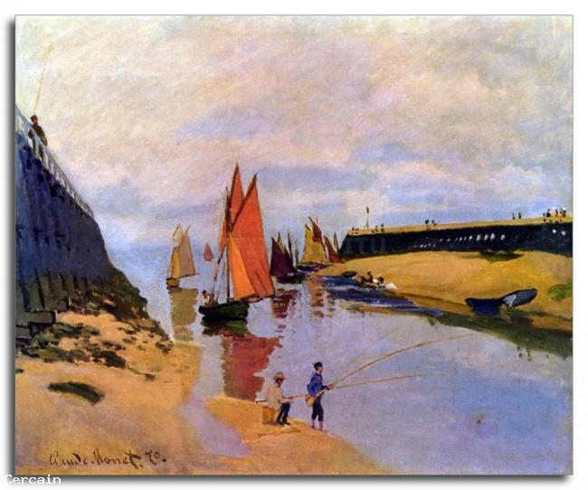 Riproduzione Artistica Porto di Trouville di Monet