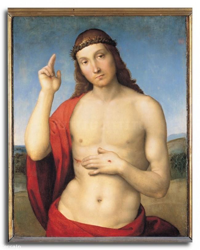 Riproduzione Artistica Cristo benedicente di Raffaello di Raffaello
