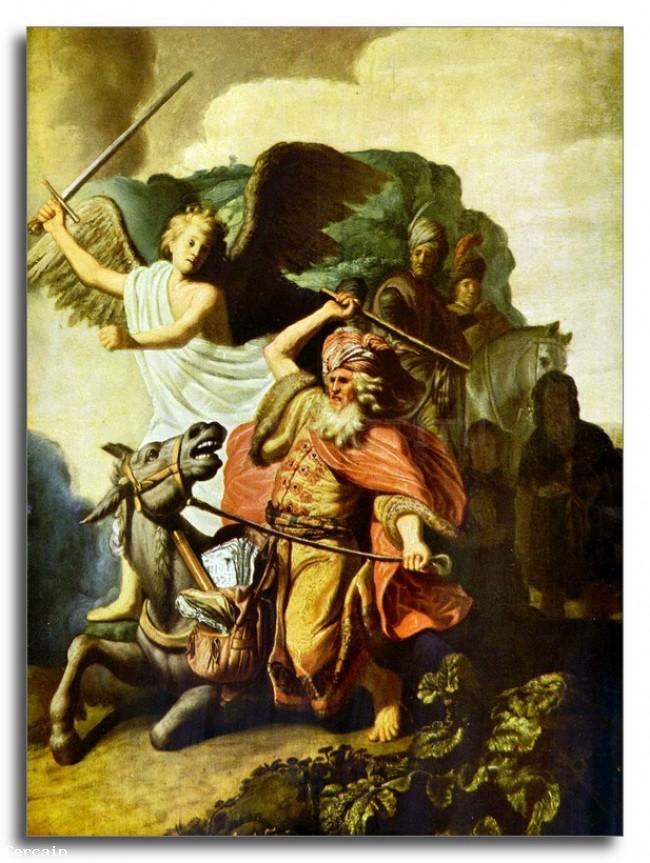 Riproduzione Artistica profeta Balaam e lasino di Rembrandt