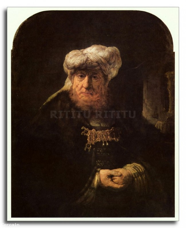 Riproduzione Artistica Il lebbroso Uzzia re di Rembrandt