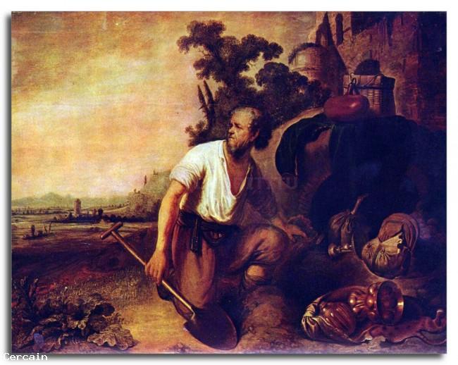 Riproduzione Artistica La parabola del tesoro tombe di Rembrandt