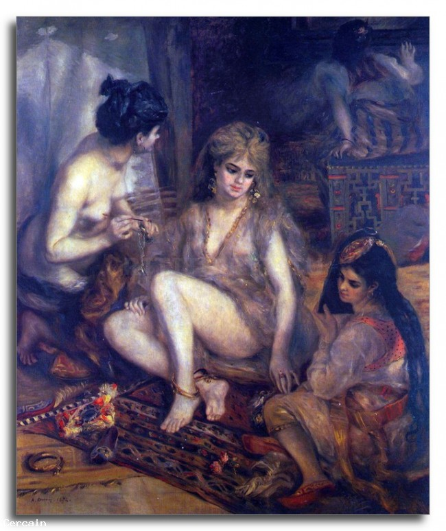 Riproduzione Artistica algerino in abito Parigi di Renoir