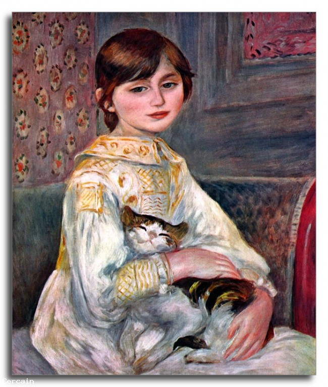 Riproduzione Artistica Ritratto di Mademoiselle Julie Manet di Renoir