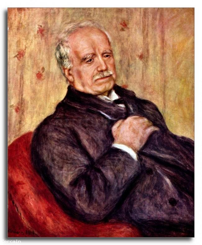 Riproduzione Artistica Ritratto di Paul Durand Ruel di Renoir