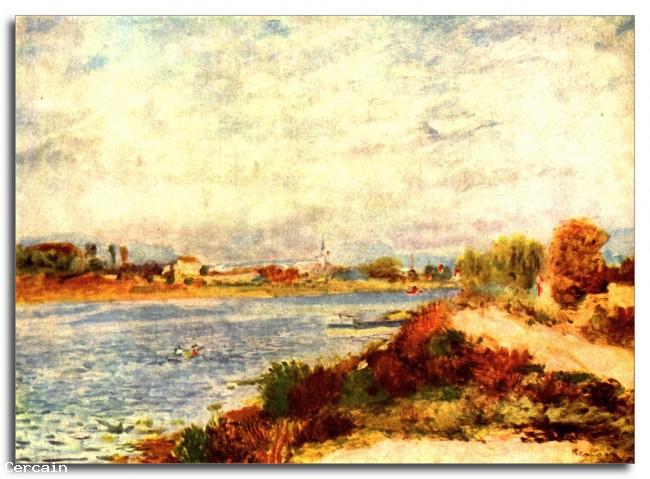 Senna a Argenteuil Riproduzione Artistica di Renoir