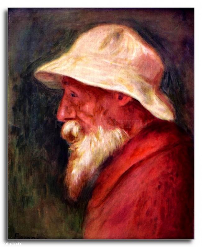 Riproduzione Artistica Autoritratto con cappello bianco