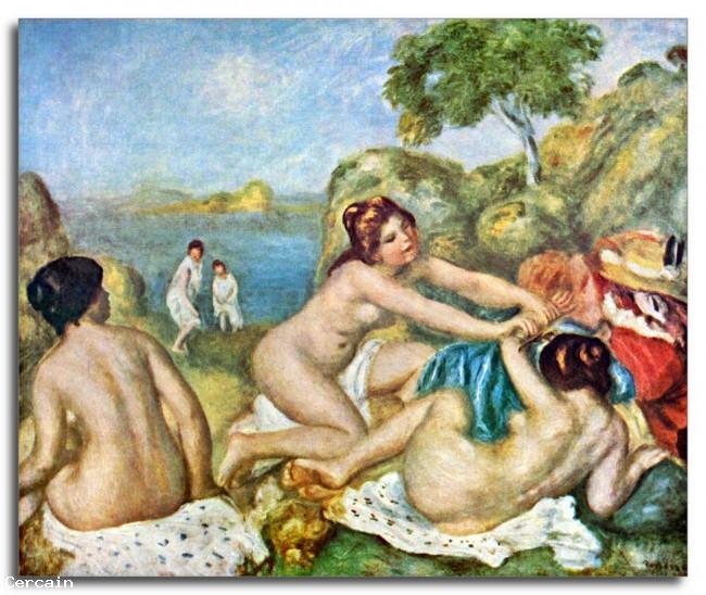 Riproduzione Artisitca Tre ragazze balneari con granchio di Renoir