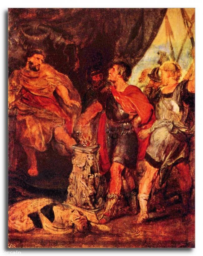 Riproduzione Artistica Muzio Scevola davanti a Porsenna di Rubens