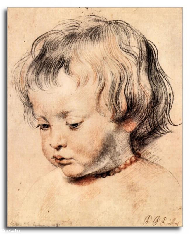 Riproduzione Artistica Il figlio di Rubens Nicola 2 di Rubens