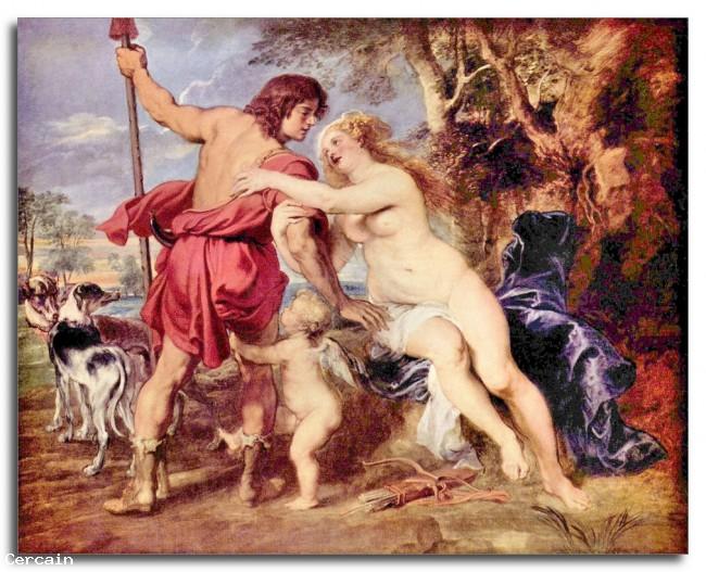 Riproduzione Artistica Venere e Adone di Rubens