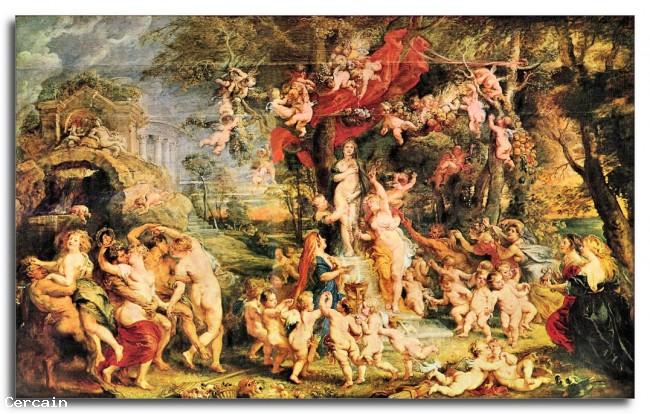 Riproduzione Artistica Festa di Venere di Rubens