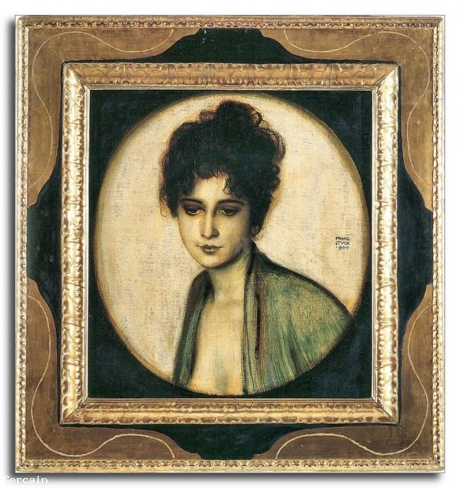 Riproduzione Artistica Ritratto della signora Feez di Franz von Stuck