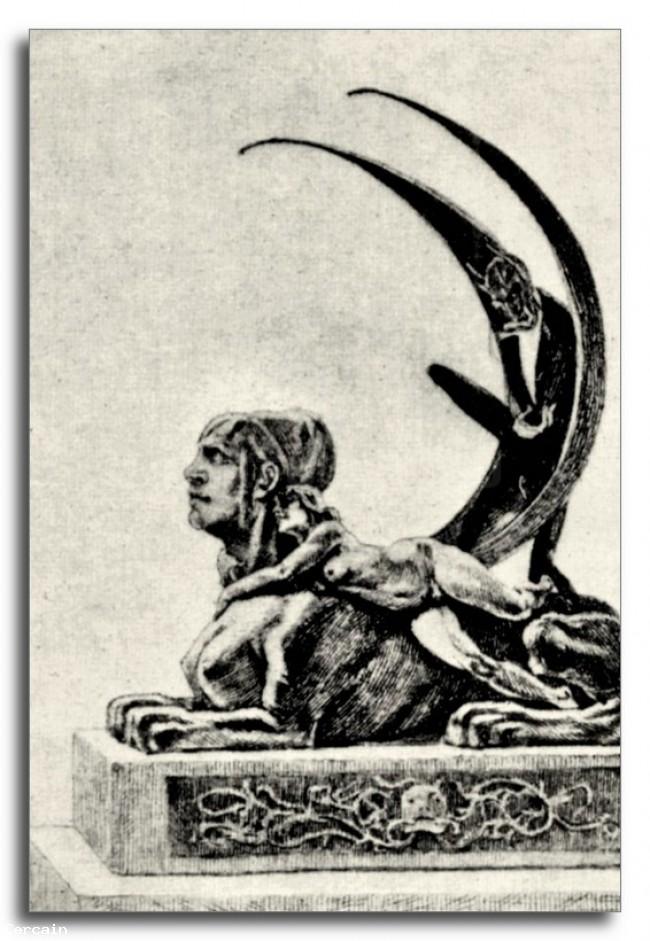 Riproduzione Artistica La Sfinge di Felicien Rops