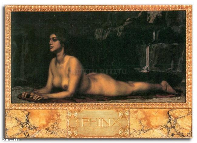 Riproduzione Artistica Sfinge di Franz von Stuck