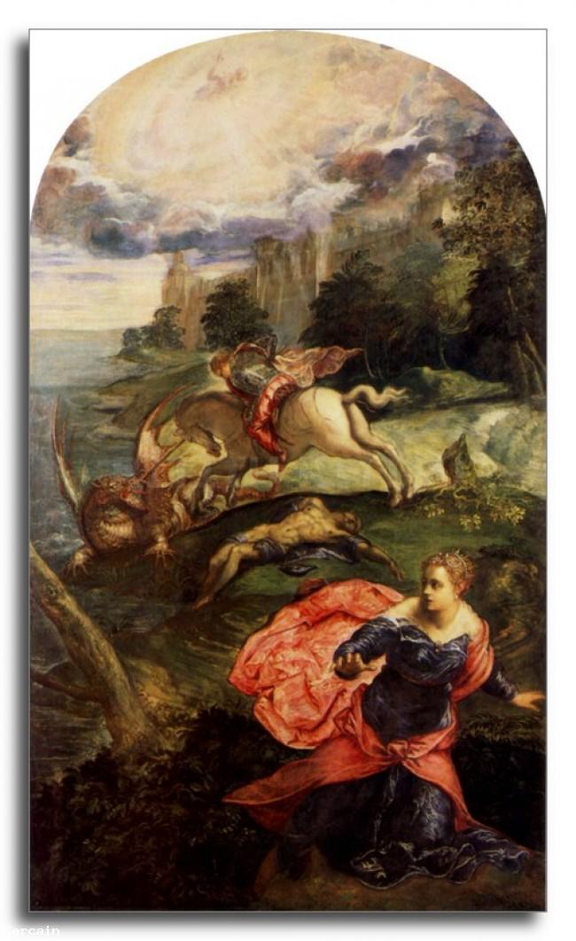 Riproduzione Artistica San Giorgio e il Drago di Tintoretto