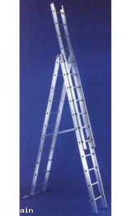 Scala Componibile Alluminio 2 Tronchi Pioli 13x2 EN131 A09A400
