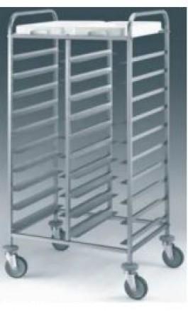 Carrello Acciaio INOX porta 20 vassoi a giorno mm530x325 1475GN