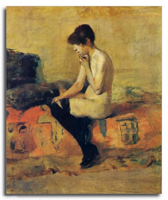 Riproduzione Artistica Studio di un nudo femminile di Toulouse Lautrec