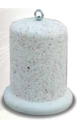 Dissuasore in Calcestruzzo sale e pepe sabbiato Ø40cmxh70cm