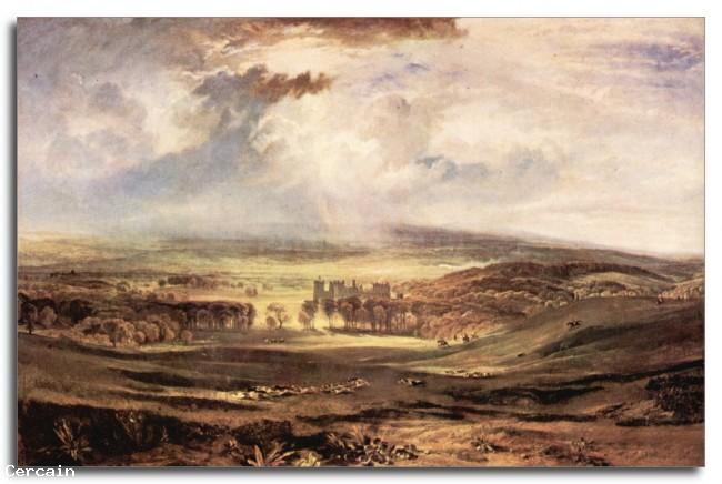 Riproduzione Artistica Castello Raby di Joseph Mallord Turner