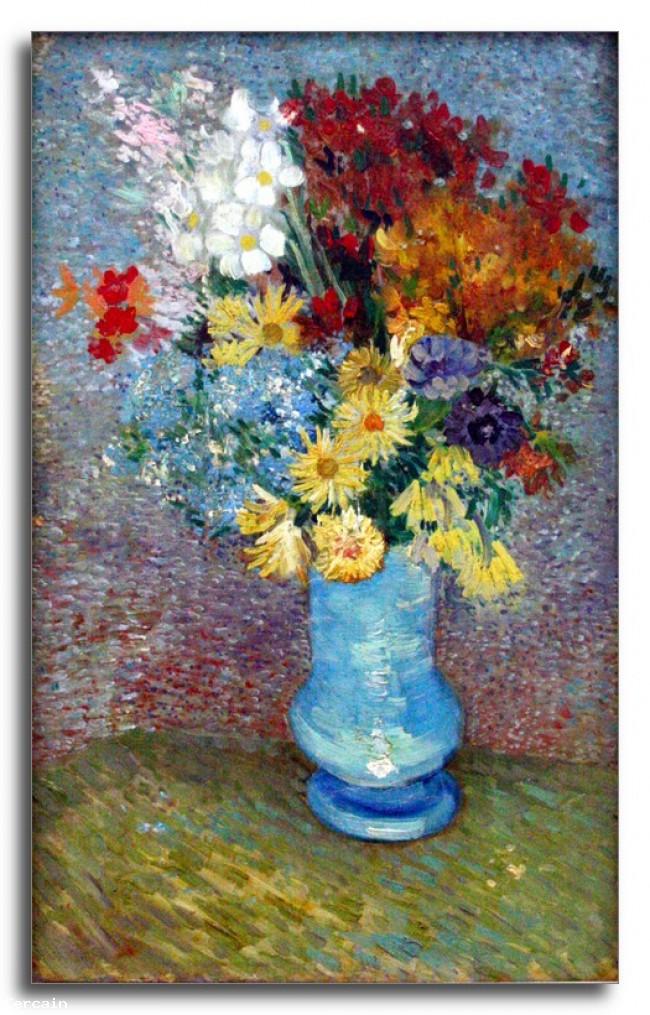 Riproduzione Artistica Fiori in un vaso blu di Van Gogh