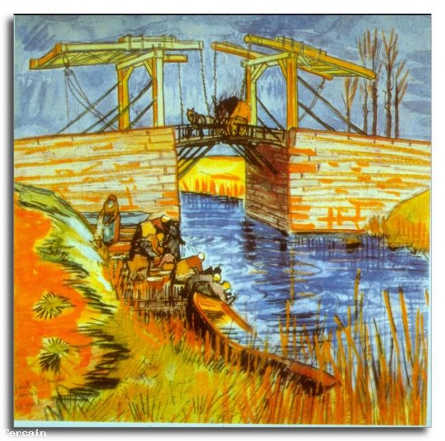 Riproduzione Artistica Il ponte di Langlois di Van Gogh