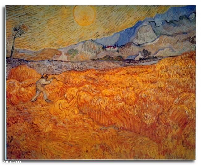 Riproduzione Artistica Mietitore di Van Gogh
