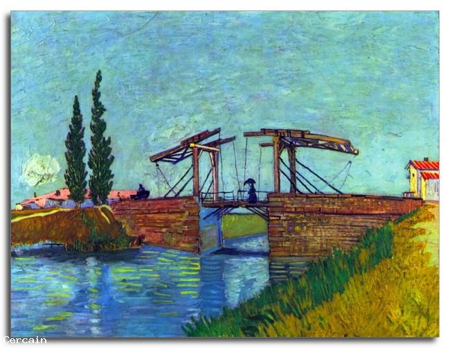 Riproduzione Artistica Il ponte Anglois ad Arles Il ponte levatoio d