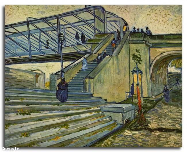 Riproduzione Artistica Il ponte di Trinquetaille di Van Gogh