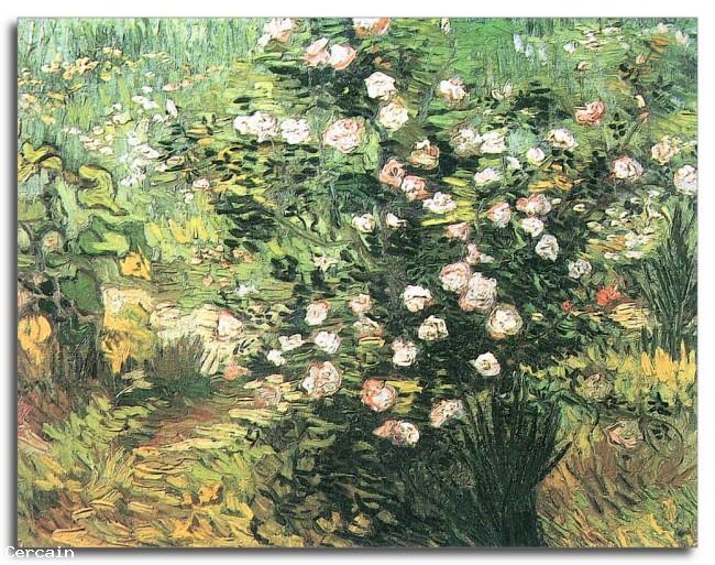 Riproduzione Artistica Roseto fiorito di Van Gogh